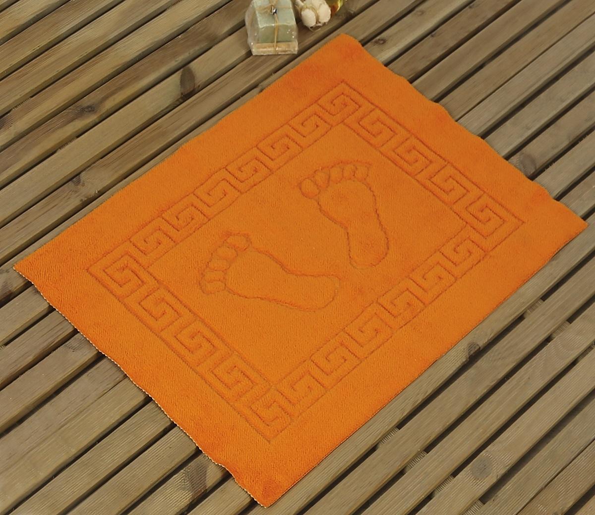 Коврик для ванной Karna Likya , цвет: оранжевый, 50 х 70 см68/5/3Коврик печатный Karna сделан из 100% полиэстера. Полиэстер является синтетическим волокном. Ткань, полностью изготовленная из полиэстера, даже после увлажнения, очень быстро сохнет. Коврик из полиэстера практически не требователен к уходу и обладает высокой устойчивостью к износу.Коврик из полиэстера не мнётся и легко стирается, после стирки очень быстро высыхает. Материал очень прочный, за время использования не растягивается и не садится. А так же обладает высокой влагонепроницаемостью.Размер: 50 х 70 см.