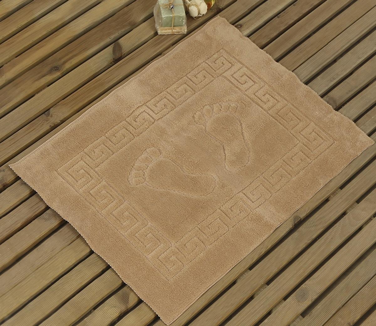 Коврик для ванной Karna Likya, цвет: кофейный, 50 х 70 см391602Коврик печатный Karna сделан из 100% полиэстера. Полиэстер является синтетическим волокном. Ткань, полностью изготовленная из полиэстера, даже после увлажнения, очень быстро сохнет. Коврик из полиэстера практически не требователен к уходу и обладает высокой устойчивостью к износу.Коврик из полиэстера не мнётся и легко стирается, после стирки очень быстро высыхает. Материал очень прочный, за время использования не растягивается и не садится. А так же обладает высокой влагонепроницаемостью.Размер: 50 х 70 см.