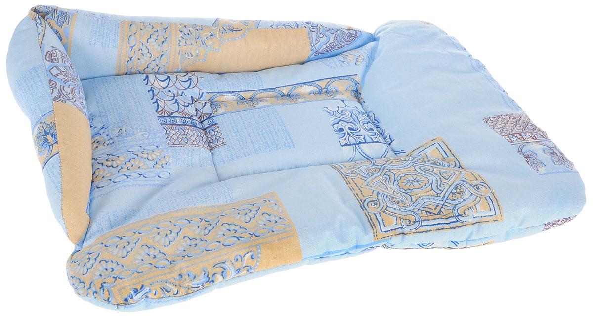 Лежак для животных Elite Valley  Софа , цвет: голубой, бежевый, 50 х 38 х 12 см. Л-5/2 - Лежаки, домики, спальные места