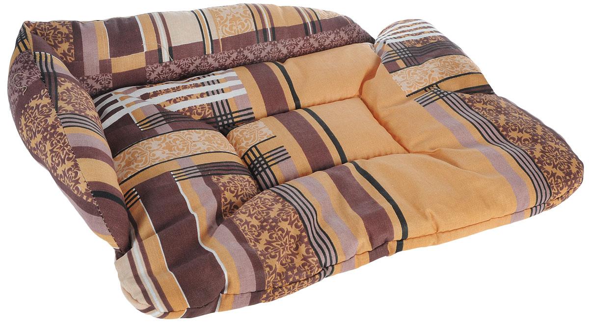 Лежак для животных Elite Valley Софа, цвет: коричневый, 50 х 38 х 12 см. Л-5/2Л-5/2_коричневыйЛежак для животных Elite Valley Софа изготовлен из высококачественной бязи, наполнитель - холлофайбер. Он станет излюбленным местом вашего питомца, подарит ему спокойный и комфортный сон, а также убережет вашу мебель от многочисленной шерсти. На таком лежаке вашему любимцу будет мягко и тепло.