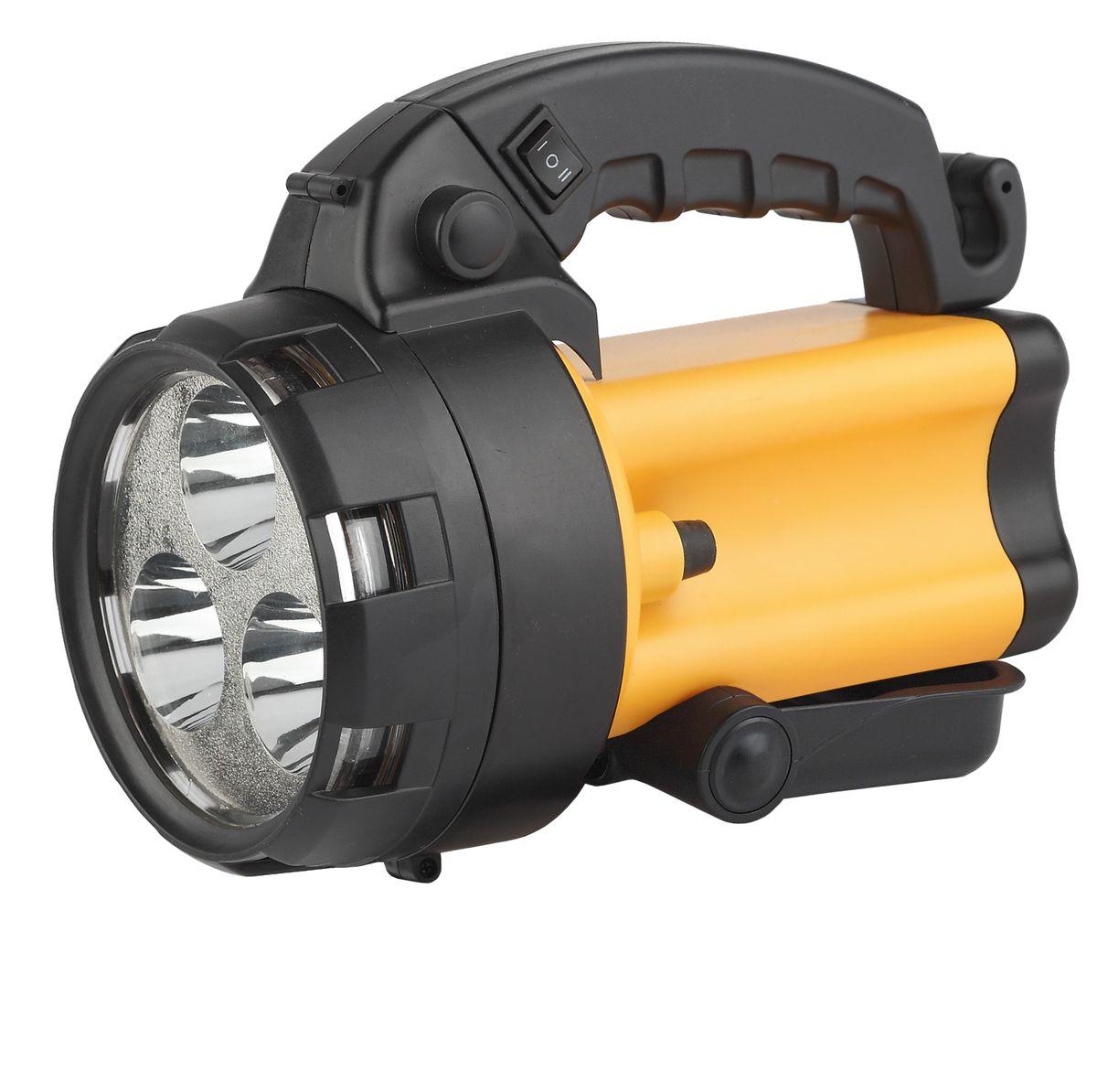 Фонарь ручной Эра, 3 x 1 Вт LED SMD, аккумулятор 4В 4,5Ач, ЗУ 220V+12VKOC2028LEDАккумуляторный светодиодный прожектор Эра:3 x 1 Вт белые светодиоды (два режима работы 50% и 100% яркости)Сигнальный красный светильник в задней части фонаряАккумулятор 4V 4,5Ah (AC3, DT4045)Подзарядка от сети 220 Вольт и бортовой сети автомобиля 12 ВольтРемень для переноски на плече.