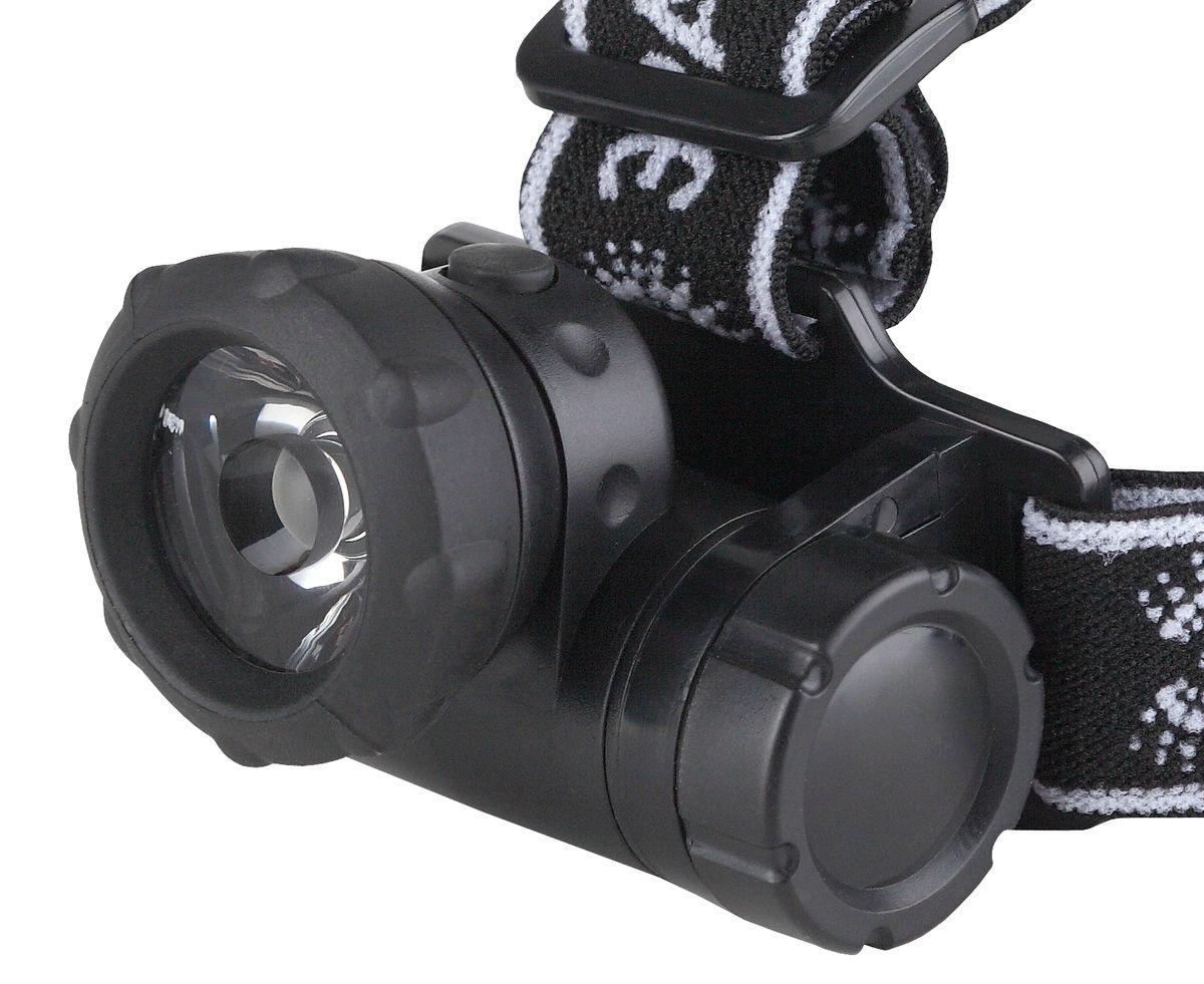 Фонарь налобный Эра, 1W х LED, коллиматорKOC-H19-LEDСветодиодный налобный фонарь Эра имеет следующие характеристики: 1W светодиодКоллиматорная линза 6°Влагозащищенный корпус3 x AAA (в комплект не входят)
