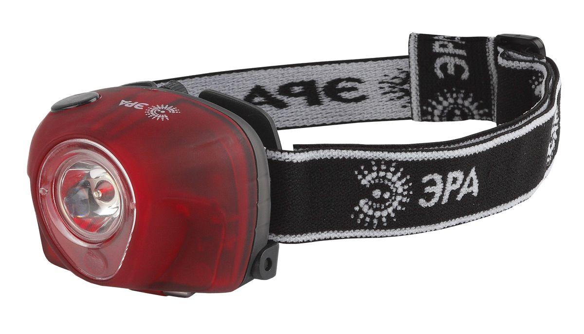 Фонарь налобный Эра, 3 W х LED, коллиматорG3WСветодиодный налобный фонарь Эра имеет следующие характеристики: 4 режима работы (в т.ч. неслепящая красная подсветка!)Белый светодиод 3 W + 3 красных LED3 x AAA (в комплект не входят)