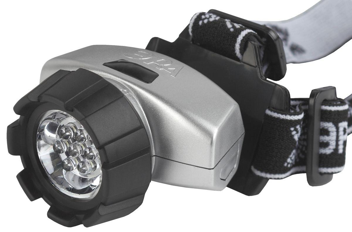 Фонарь налобный Эра New, 7 x LED67742Светодиодный налобный фонарь Эра New:7 белых светодиодов4 режима работы 3 x AAA (в комплект не входят)