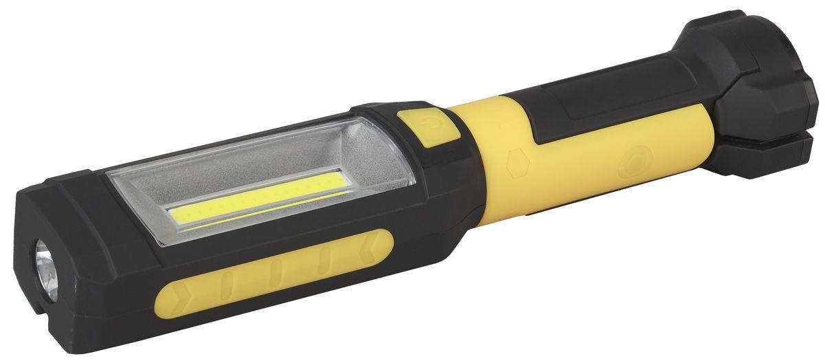 Фонарь ручной Эра Практик, 5 Вт COB+3 Вт, с магнитом, крючком и прищепкойKOCAc6009LEDРабочий батареечный фонарь Эра Практик имеет следующие характеристики: 5 Вт COB диод + светильникРезиновый корпус и присоска Крючок Магнит Клипса-прищепка Вращение в двух плоскостях 3 х ААА (в комплект не входят).