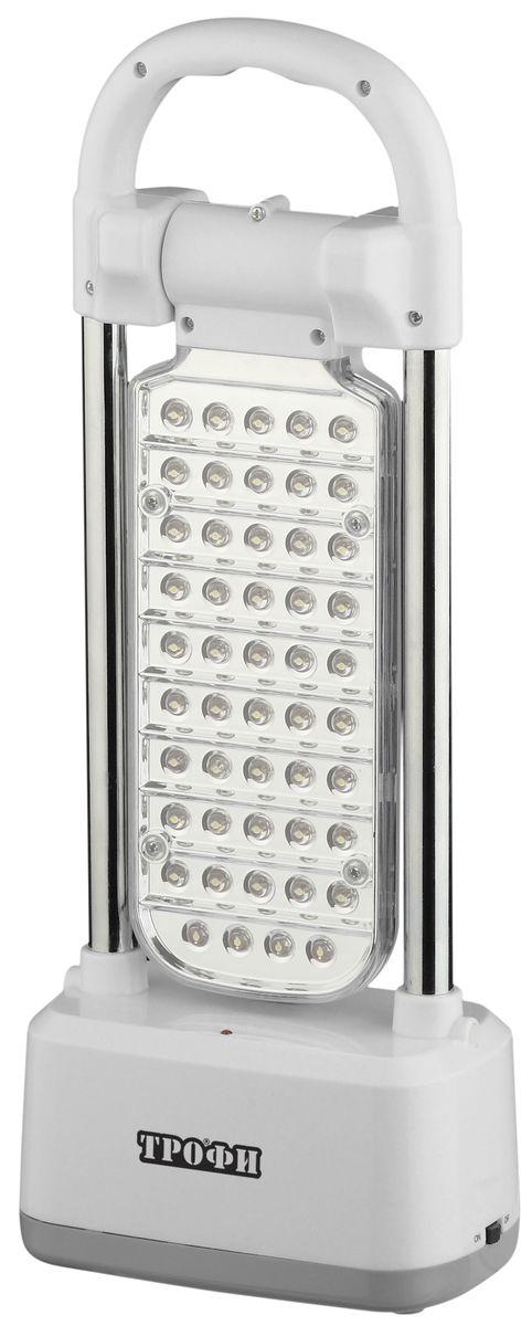 Фонарь кемпинговый Трофи, 49 x LED, аккумулятор 4V 3Ah, ЗУ 220V67742Аккумуляторный кемпинговый светодиодный фонарь Трофи:49 белых LED (диммер) Поворотный LED-модуль Аккумулятор 4V 3Ah Подзарядка от сети 220 Вольт