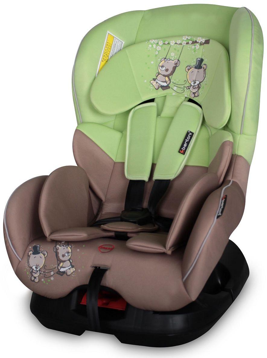 Bertoni Автокресло Concord цвет бежевый зеленый от 0 до 18 кг3800151921820Автокресло Bertoni Concord от 0 до 18 кг среднего класса повышенной надежности. Европейский стандарт безопасности ECЕ R44/04. 3 положения угла наклона кресла: сидя, полусидя, полулежа. 5-точечный, регулируемый по высоте ремень безопасности с мягкими накладками. Мягкая вставка из натуральной ткани. Легко съемная моющаяся тканевая часть. Простой монтаж.