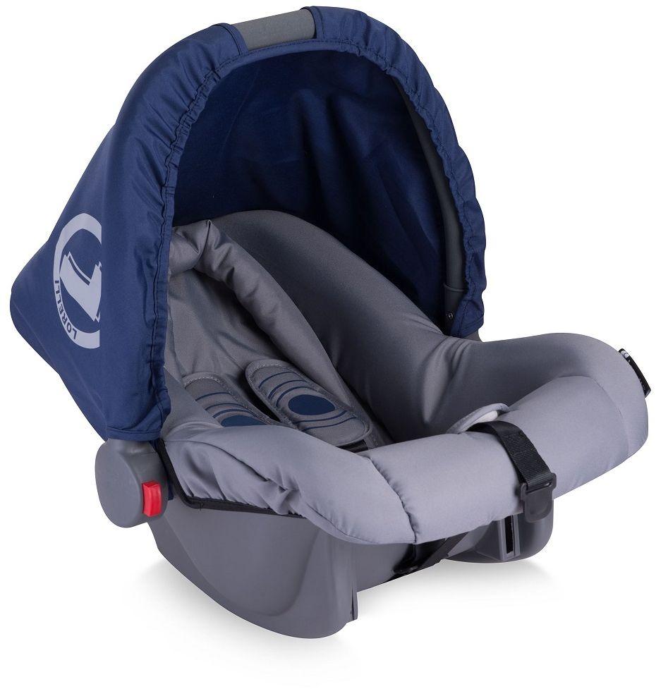 Lorelli Автокресло Bodyguard цвет синий от 0 до 10 кг229662Автопереноска Lorelli Bodyguard, группа 0+, от 0 до 10 кг, 0 -1,5 года,3-точечный ремень безопасности, смягчающий матрасик для головы, солнцезащитный капюшон.