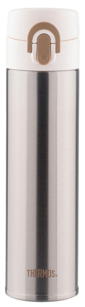 Термос Thermos, цвет: черный матовый, 0,4 л. JNI-40067743Термос Thermos это суперлегкий и супертонкий (наименьший диаметр) термос, созданный по последним разработкам специалистов компании Thermos.При объеме 400 мл, термос весит всего лишь 190 гр.