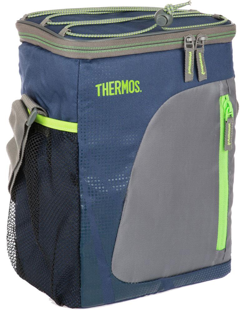 Термосумка Thermos Radiance 12 Can Cooler, цвет: синий, серый, 9 л95906443Radiance 12 Can Cooler-это универсальная термосумка, которая очень пригодится в поездке для перевозки косметических и лекарственных средств, требующих поддержания определенных температурных условий хранения. Благодаря ее изоляционному слою, сумка позволяет сохранять продукты свежими, а напитки холодными даже в жару. Объем: 9 л.