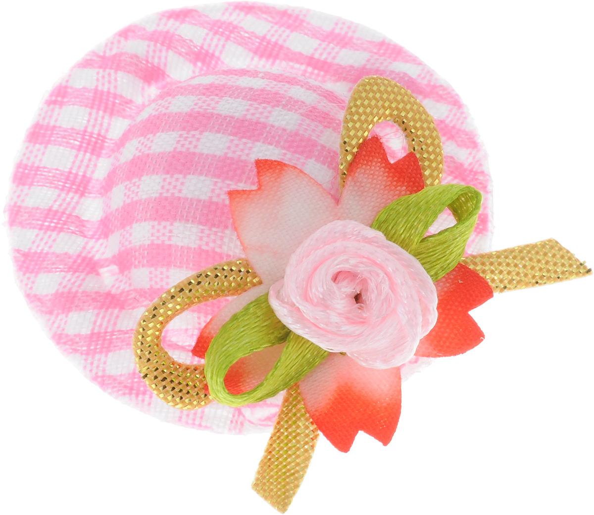 Заколка-шляпка для собак VIPet Ностальжи, цвет: розовый, диаметр 3,5 см12171996Заколка-шляпка VIPet Ностальжи - это красивое и стильное украшение для собак. Заколка прекрасно крепится на волосах и позволяет фиксировать шерсть. Выполнена из стали, пластика и тканей различных структур, плотностей и фактур.