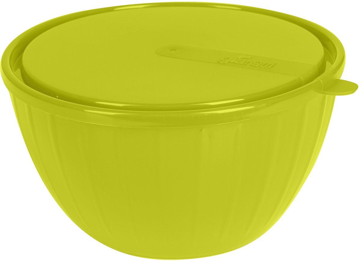 Салатник Giaretti Fiesta, с крышкой, цвет: оливковый, 1,7 л54 009312Пластиковый салатник Giaretti Fiesta предназначен не только для подачи, но и для хранения салатов. Удобная крышка помогает сохранять свежесть продуктов, а сам салатник достаточно легок для транспортировки! Он создан из абсолютно безопасных пищевых материалов, так что вы можете не волноваться о сохранении качества продуктов.