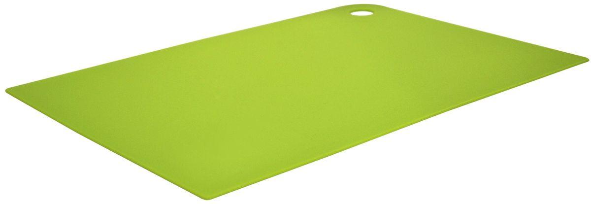 Доска разделочная Giaretti Elastico, гибкая, цвет: оливковый, 35 х 25 см68/5/4Маленькие и большие, под хлеб или сыр, овощи или мясо. Разделочных досок много не бывает. Giaretti предлагает новинку – гибкие доски.Преимущества:-не скользит по поверхности стола - вы можете резать продукты и не отвлекаться на мелочи; -удобно использовать - на гибкой доске вы сможете порезать продукты, согнув доску переложить их в блюдо и не рассыпать содержимое;-легкие доски займут мало места на вашей кухне;-легко моются в посудомоечной машине; -оптимальный размер доски позволят вам порезать небольшой кусок сыра или нашинковать много овощей.