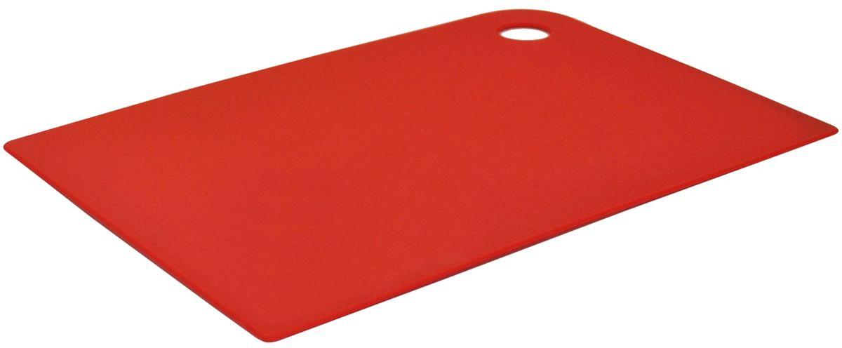 Доска разделочная Giaretti Elastico, гибкая, цвет: красный, 35 х 25 смFS-91909Маленькие и большие, под хлеб или сыр, овощи или мясо. Разделочных досок много не бывает. Giaretti предлагает новинку – гибкие доски.Преимущества:-не скользит по поверхности стола - вы можете резать продукты и не отвлекаться на мелочи; -удобно использовать - на гибкой доске вы сможете порезать продукты, согнув доску переложить их в блюдо и не рассыпать содержимое;-легкие доски займут мало места на вашей кухне;-легко моются в посудомоечной машине; -оптимальный размер доски позволят вам порезать небольшой кусок сыра или нашинковать много овощей.