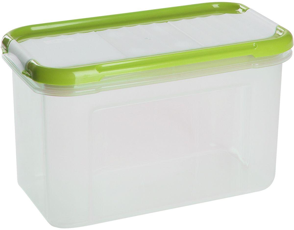 Банка для сыпучих продуктов Giaretti Krupa, с дозатором, цвет: оливковый, прозрачный, 0,75 лVT-1520(SR)Банки для сыпучих продуктов предназначены для хранения круп, сахара, макаронных изделий, сладостей и т.п., в том числе для продуктов с ярким ароматом (специи и пр.). Строгая прямоугольная форма банок поможет Вам организовать пространство максимально комфортно, не теряя полезную площадь. При этом банки устанавливаются одна на другую, что способствует экономии пространства в Вашем шкафу. Плотная крышка не пропускает запахи, и они не смешиваются в Вашем шкафу. Благодаря разнообразным отверстиям в дозаторе, Вам будет удобно насыпать как мелкие, так и крупные сыпучие продукты, что сделает процесс приготовления пищи проще.