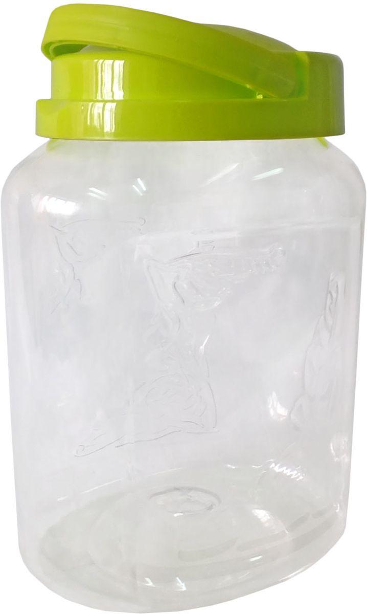 Емкость для хранения Plastic Centre Крок, цвет: светло-зеленый, прозрачный, 3 лL3170226Емкость для хранения Plastic Centre Крок, выполненная из высококачественного пластика, предназначена для хранения сыпучих продуктовили жидкостей. Крышка оснащена ручкой для удобной переноски.