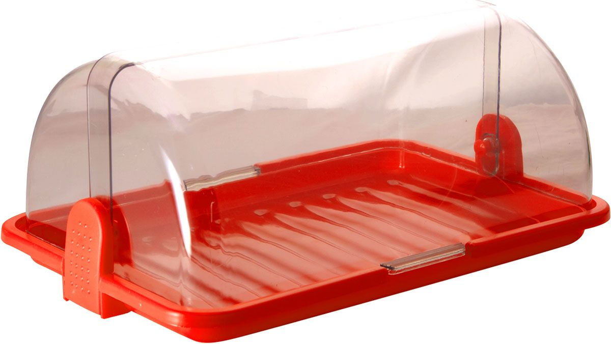 Хлебница Plastic Centre, цвет: красный, прозрачный, 38,5 х 26 х 16,5 смFD-59Хлебница Plastic Centre, выполненная из полипропилена, сохранит хлеб свежим длительное время. Оптимальный размер хлебницы подойдет для любой кухни.