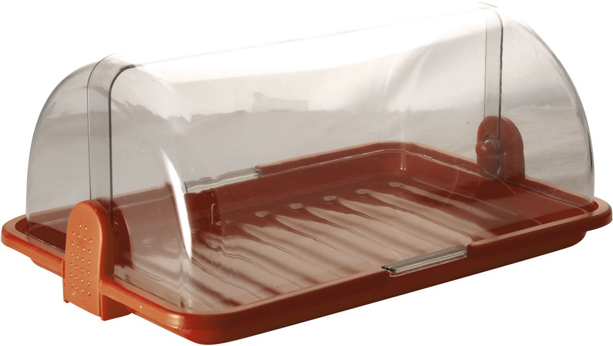 Хлебница Plastic Centre, цвет: коричневый, прозрачный, 38,5 х 26 х 16,5 см115510Хлебница Plastic Centre, выполненная из полипропилена, сохранит хлеб свежим длительное время. Оптимальный размер хлебницы подойдет для любой кухни.