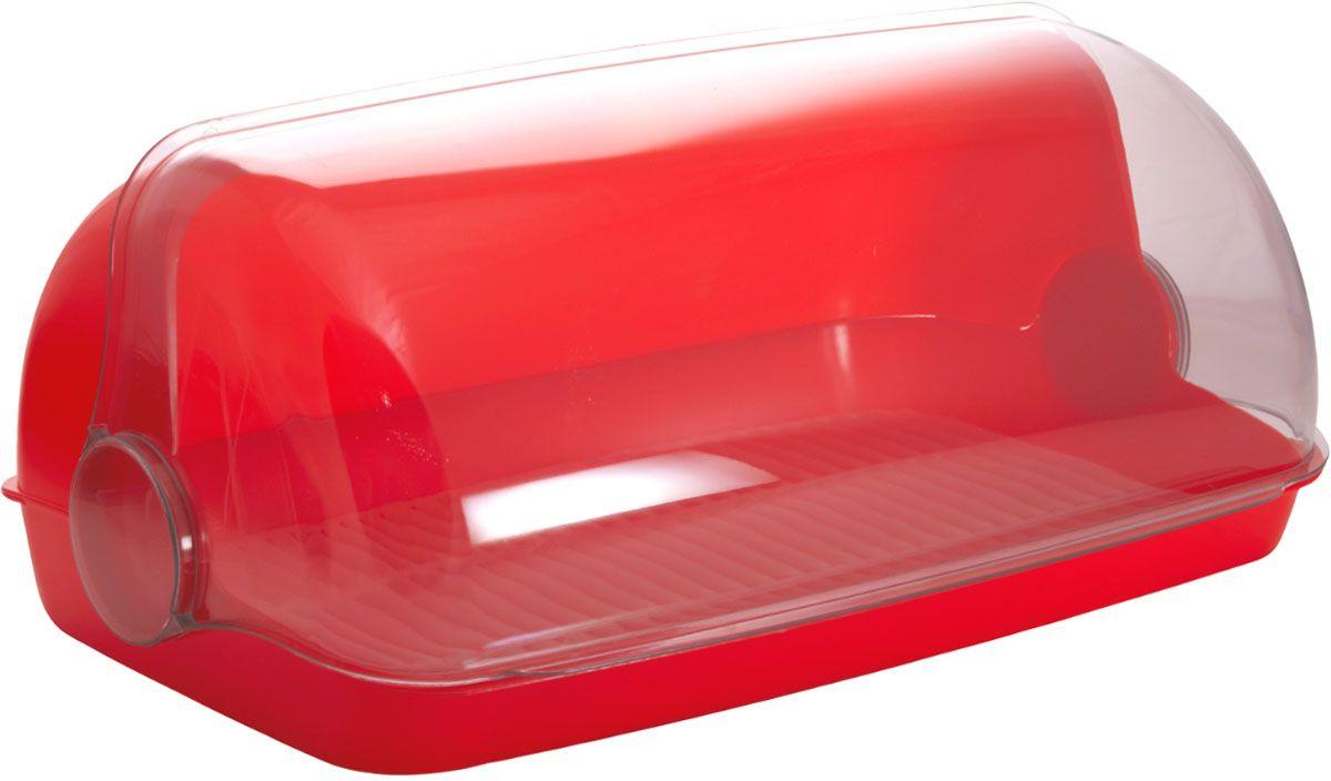Хлебница Plastic Centre Пышка, цвет: красный, прозрачный, 32,5 х 22 х 17 смД Дачно-Деревенский 20Универсальная форма хлебниц Plastic Centre Пышка подойдет для любой кухни. Хлебница выполнена из полипропилена. Решетка внутри хлебницы поможет сохранить хлеб свежим долгое время.