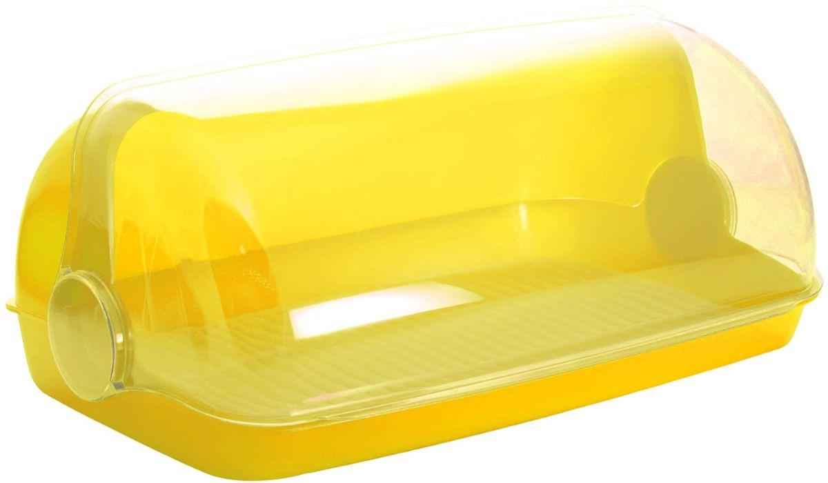 Хлебница Plastic Centre Пышка, цвет: желтый, прозрачный, 32,5 х 22 х 17 смВетерок 2ГФУниверсальная форма хлебниц Plastic Centre Пышка подойдет для любой кухни. Хлебница выполнена из полипропилена. Решетка внутри хлебницы поможет сохранить хлеб свежим долгое время.