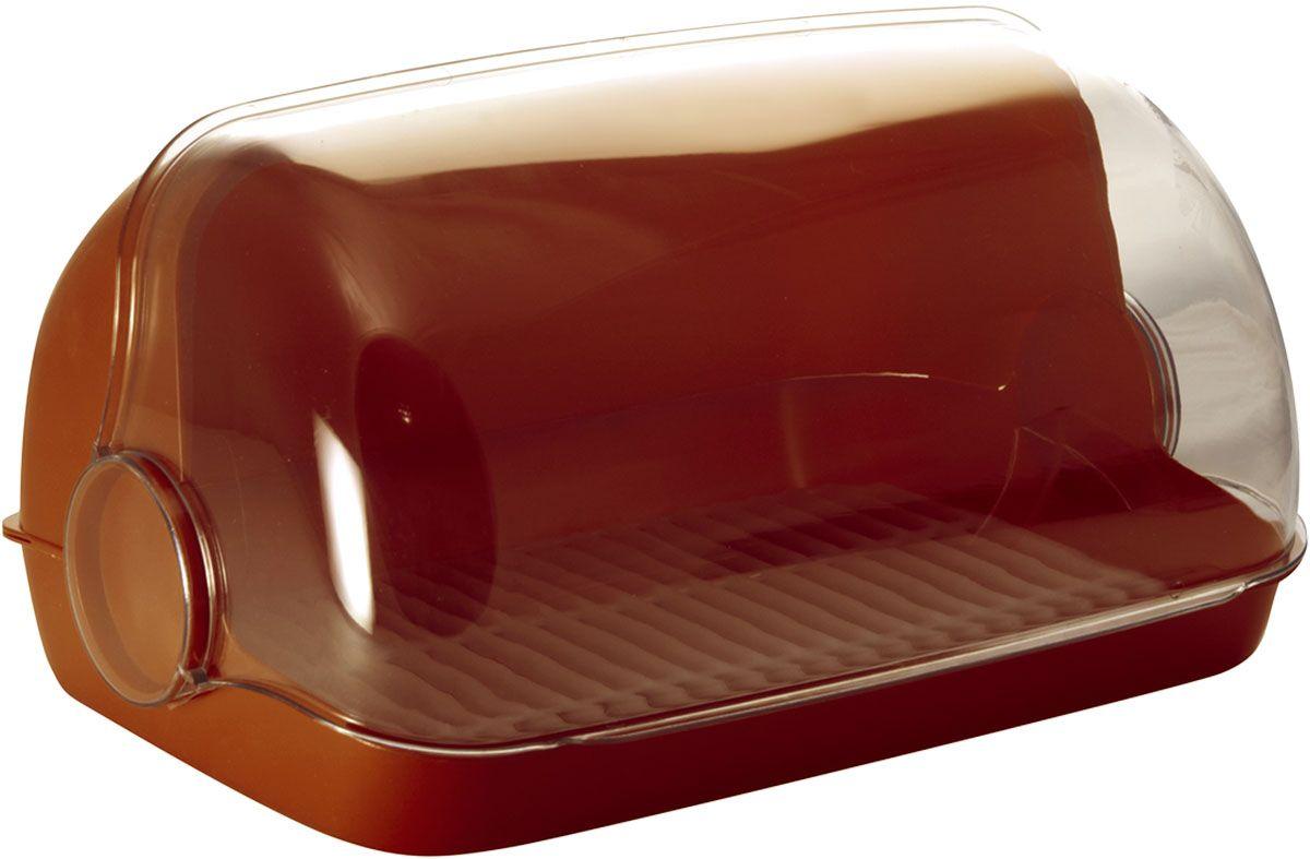 Хлебница Plastic Centre Пышка, цвет: коричневый, прозрачный, 41,5 х 26 х 18,5 смВетерок 2ГФУниверсальная форма хлебниц Plastic Centre Пышка подойдет для любой кухни. Хлебница выполнена из полипропилена. Решетка внутри хлебницы поможет сохранить хлеб свежим долгое время.