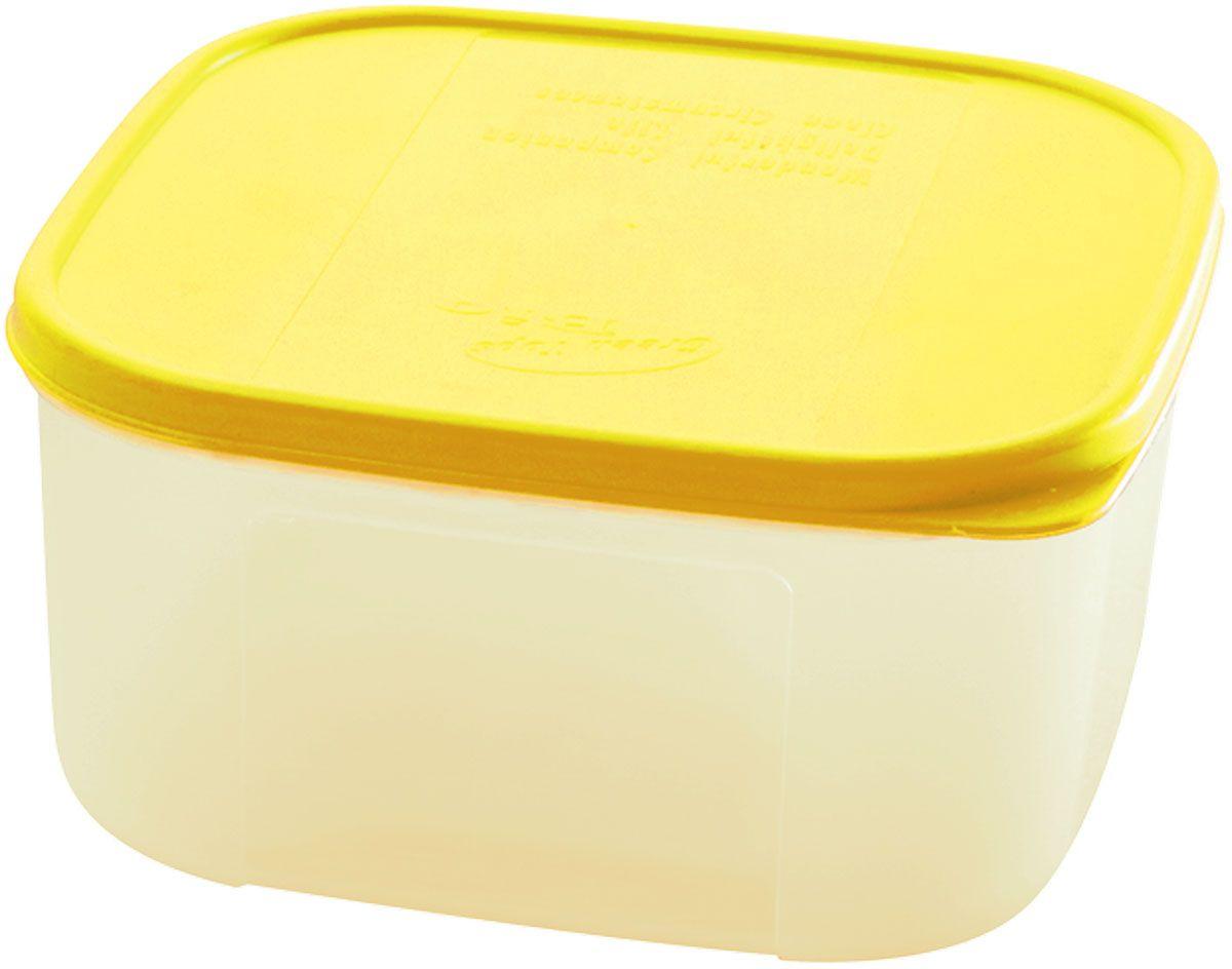 Емкость для продуктов Plastic Centre Bio, цвет: желтый, прозрачный, 420 млПЦ2355ЛМНМногофункциональная емкость для хранения различных продуктов, разогрева пищи, замораживания ягод и овощей в морозильной камере и т.п. При хранении продуктов в холодильнике емкости можно ставить одну на другую, сохраняя полезную площадь холодильника или морозильной камеры.Размер контейнера: 11 x 11 x 6 см.Объем контейнера: 420 мл.