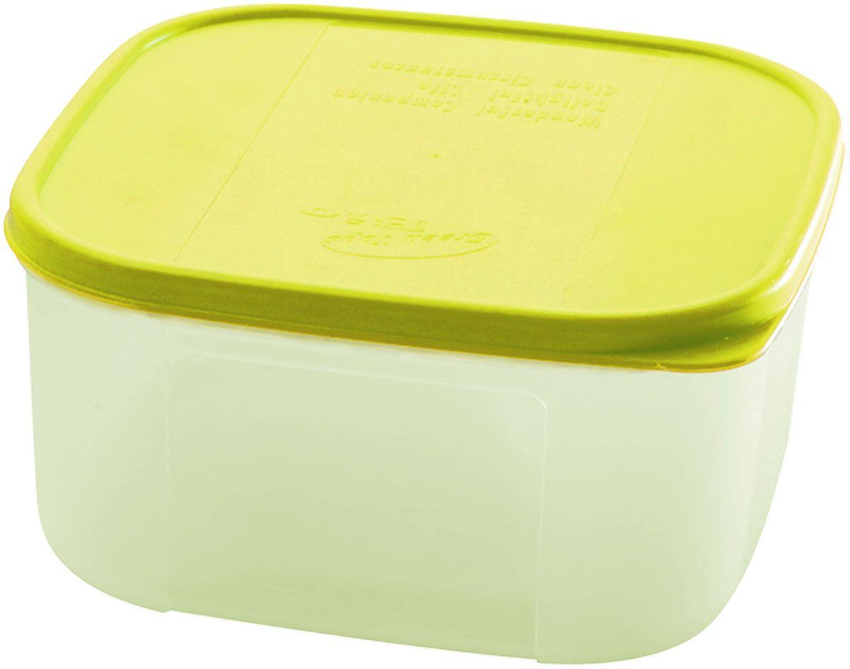 Емкость для продуктов Plastic Centre Bio, цвет: светло-зеленый, прозрачный, 700 млVT-1520(SR)Многофункциональная емкость для хранения различных продуктов, разогрева пищи, замораживания ягод и овощей в морозильной камере и т.п. При хранении продуктов в холодильнике емкости можно ставить одну на другую, сохраняя полезную площадь холодильника или морозильной камеры.Размер контейнера: 13 x 13 x 6,5 см.Объем контейнера: 700 мл.