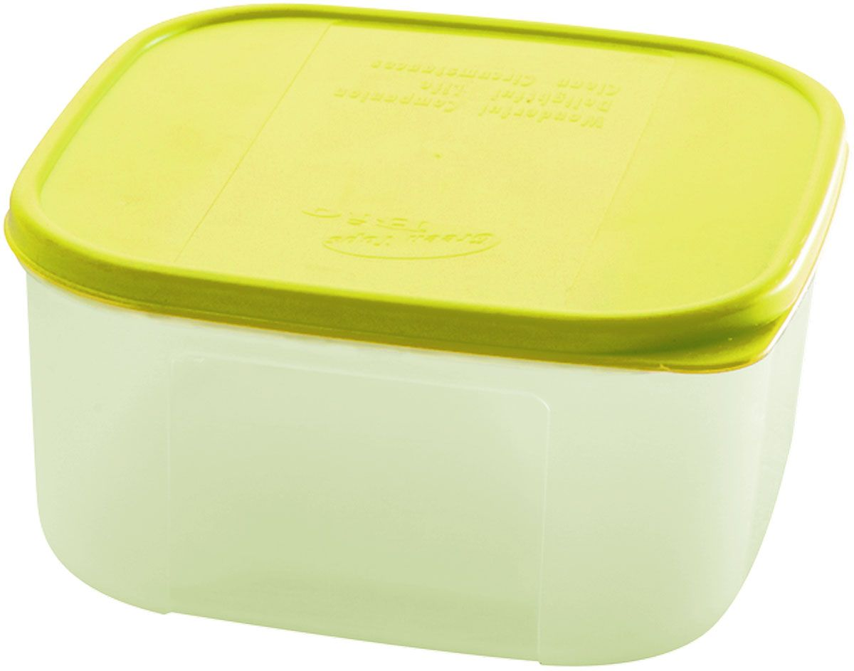 Емкость для продуктов Plastic Centre Bio, цвет: светло-зеленый, прозрачный, 1,1 лПЦ2357ЛММногофункциональная емкость для хранения различных продуктов, разогрева пищи, замораживания ягод и овощей в морозильной камере и т.п. При хранении продуктов в холодильнике емкости можно ставить одну на другую, сохраняя полезную площадь холодильника или морозильной камеры.Размер контейнера: 14,8 x 14,8 x 7,7 см.Объем контейнера: 1,1 л.