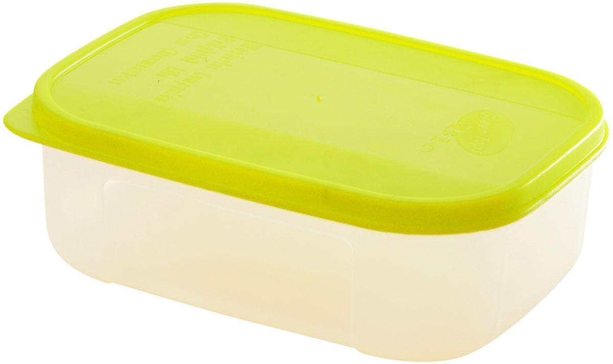 Емкость для продуктов Plastic Centre Bio, цвет: светло-зеленый, прозрачный, 350 млД Дачно-Деревенский 20Многофункциональная емкость для хранения различных продуктов, разогрева пищи, замораживания ягод и овощей в морозильной камере и т.п. При хранении продуктов в холодильнике емкости можно ставить одну на другую, сохраняя полезную площадь холодильника или морозильной камеры.Размер контейнера: 12 x 9,5 x 5 см.Объем контейнера: 350 мл.