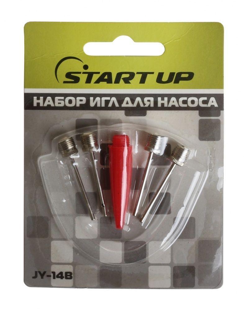 Набор игл для насоса Start Up, с переходником, 4 шт. JY-14BMW-1462-01-SR серебристыйВ комплекте: 4 иглы + переходник