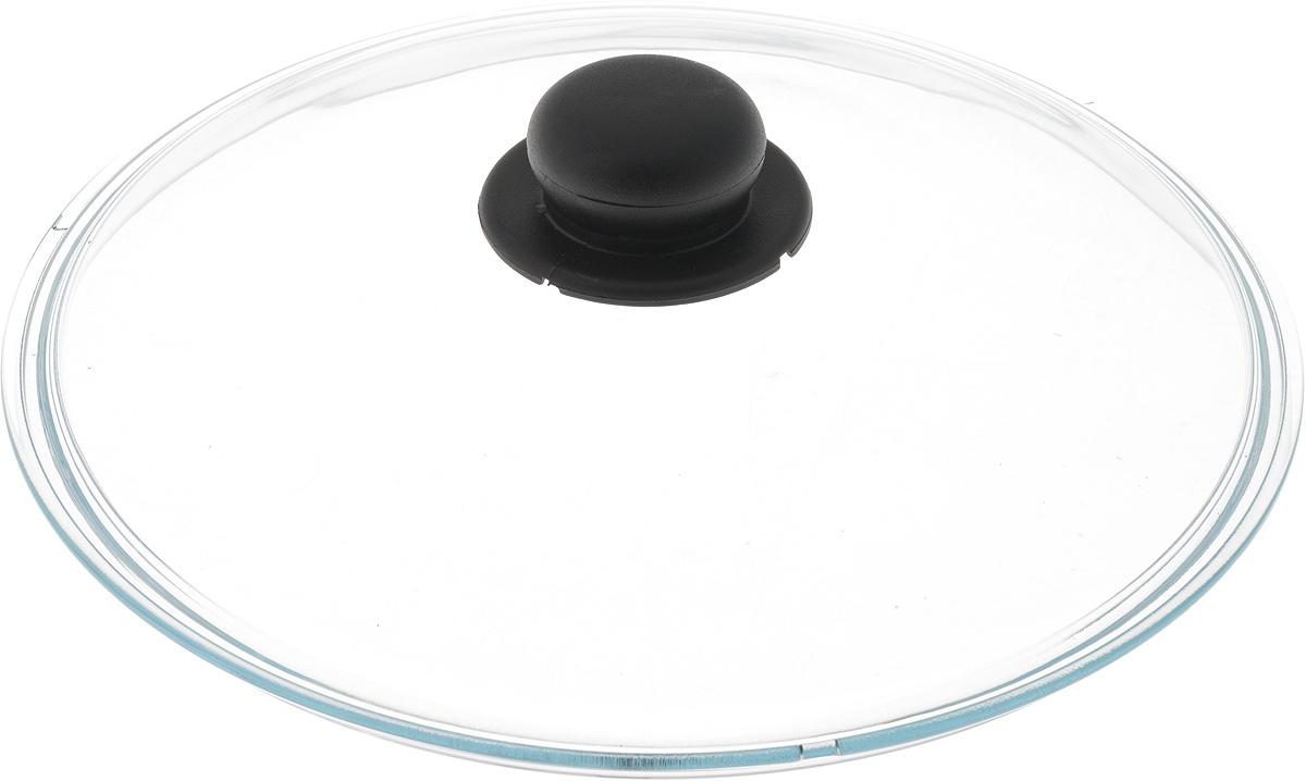 Крышка Ballarini, стеклянная. Диаметр 28 смFS-91909Крышка Ballarini изготовлена из высококачественного жаростойкого стекла с пластиковой ручкой. Изделие удобно в использовании и позволяет контролировать процесс приготовления пищи.Диаметр крышки: 28 см.