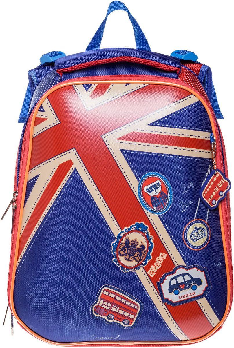 Hatber Ранец школьный Ergonomic Британский флаг ранец hatber robot attack