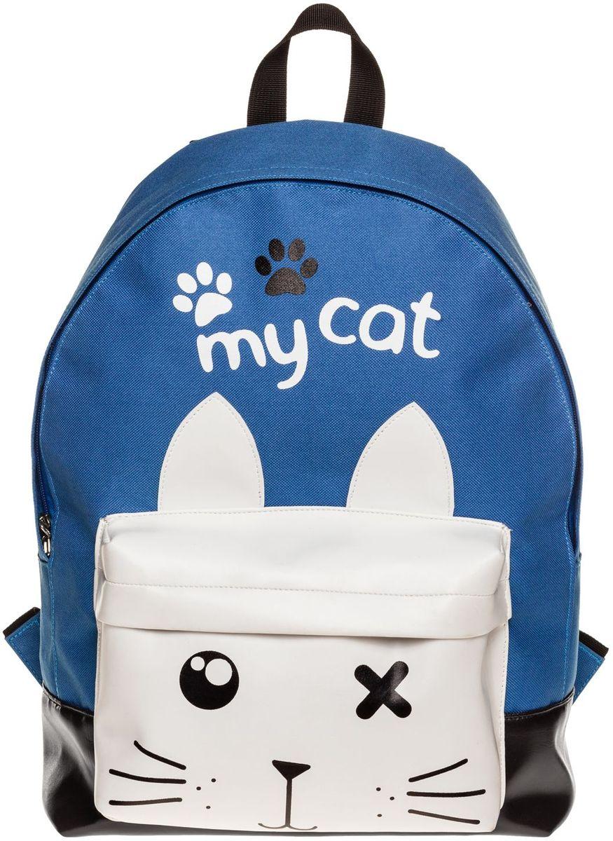 Hatber Рюкзак Basic My Cat72523WDРюкзак Hatber Basic My Cat - это современный молодежный рюкзак, отличающийсялегкостью и вместительностью. Изделие выполнено из полиэстера.Рюкзак имеет одно основное отделение на застежке-молнии. Внутри расположен карман для тетрадей. На лицевой стороне размещен накладной карман на молнии.Текстильная ручка обеспечивает возможность переноски рюкзака в одной руке. Уплотненные спинка и лямки гарантируют комфорт при любых обстоятельствах. Дно рюкзака также уплотнено.