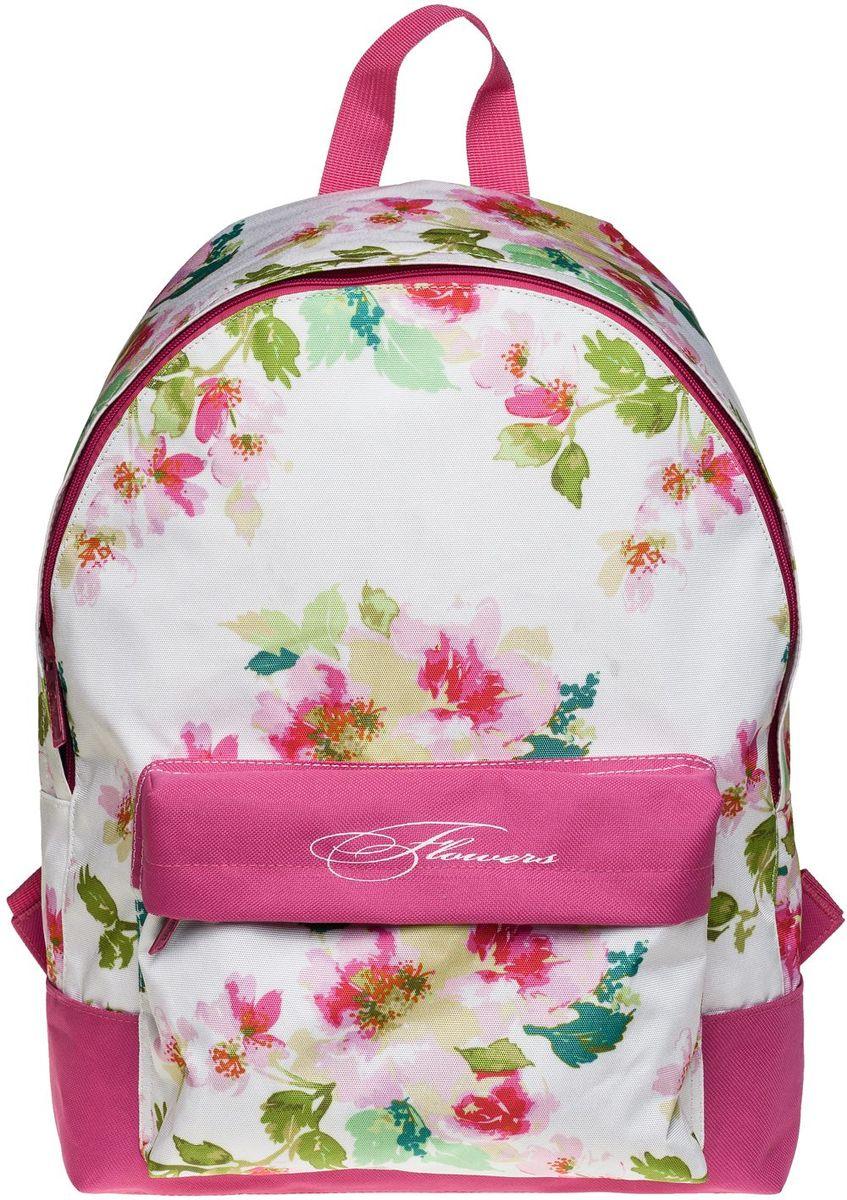 Hatber Рюкзак Basic Flowers72523WDРюкзак Hatber Basic Flowers - это современный молодежный рюкзак, отличающийся легкостью ивместительностью. Изделие выполнено из полиэстера и оформлено цветочным принтом. Рюкзак имеет одно основное отделение на застежке-молнии. Внутри расположенкарман для тетрадей. На лицевой стороне рюкзака размещен накладной карман на молнии.Текстильная ручка обеспечивает возможность переноски рюкзака в одной руке. Уплотненные спинка и лямки гарантируют комфорт при любых обстоятельствах. Дно рюкзака также уплотнено.