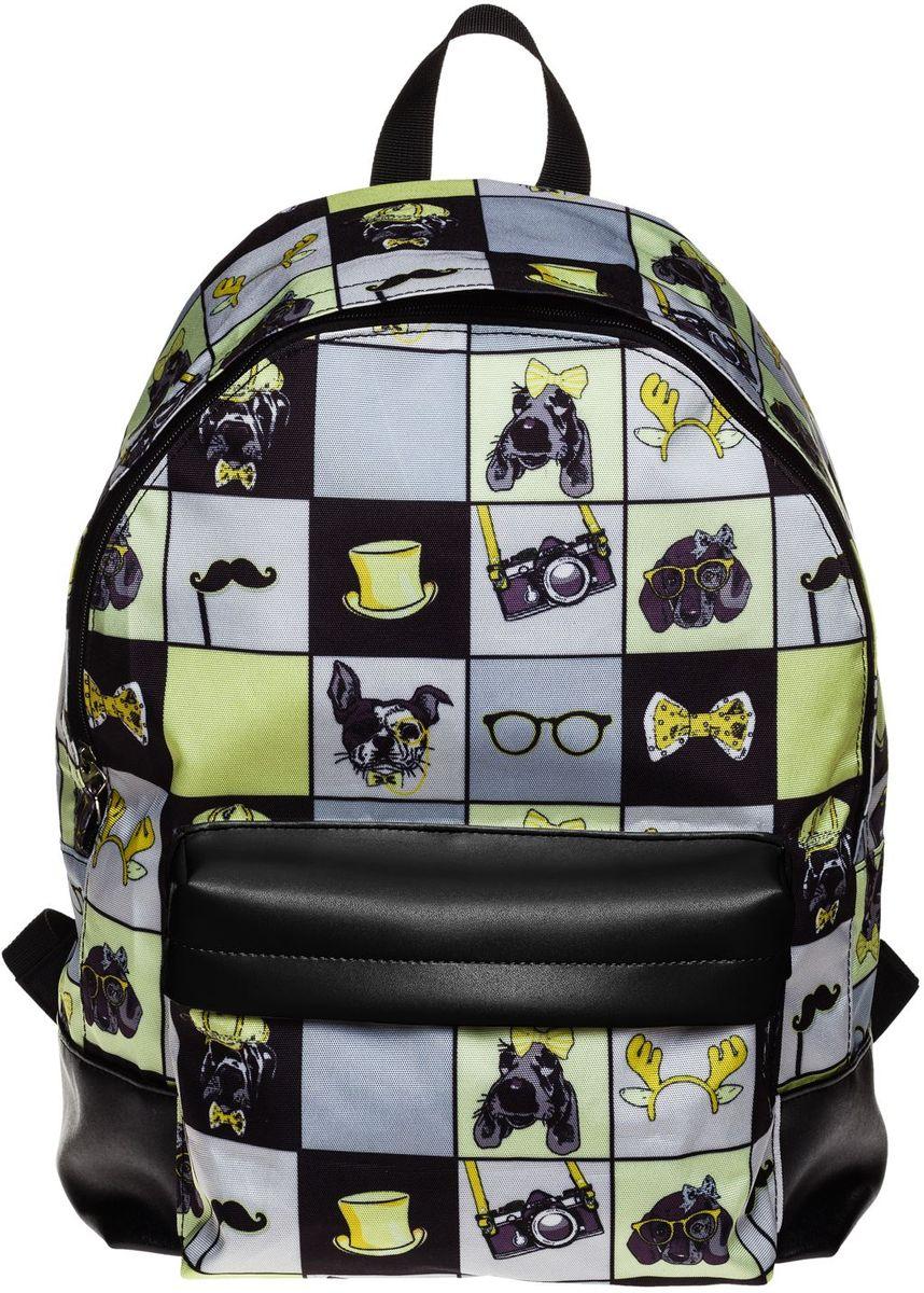 Hatber Рюкзак Basic Young Style72523WDРюкзак Hatber Basic Young Style - это современный молодежный рюкзак, отличающийся легкостью и вместительностью. Изделие выполнено из полиэстера и оформлено модным принтом. Рюкзак имеет одно основное отделение на застежке-молнии. Внутри расположен карман для тетрадей, на лицевой стороне - накладной карман на молнии. Текстильная ручка обеспечивает возможность переноски рюкзака в одной руке. Уплотненные спинка и лямки гарантируют комфорт при любых обстоятельствах. Усиленное основание повышает износостойкость дна рюкзака.
