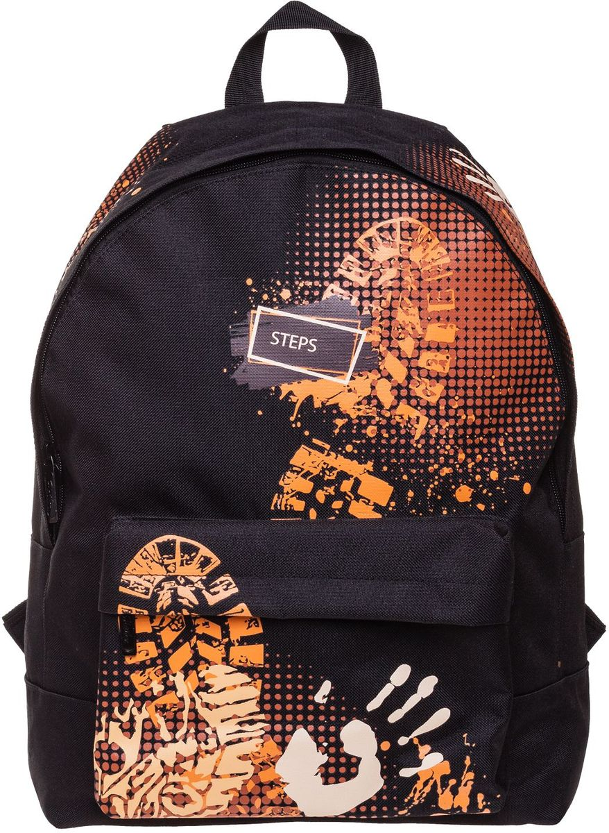 Hatber Рюкзак Basic Steps72523WDРюкзак Hatber Basic Steps - это современный молодежный рюкзак, отличающийся легкостью ивместительностью. Изделие выполнено из полиэстера.Рюкзак имеет одно основное отделение, закрывающееся на застежку-молнию. Внутри расположен карман для тетрадей, на лицевой стороне - накладной карман на молнии. Текстильная ручка обеспечивает возможность переноски рюкзака в одной руке. Изделие оснащено уплотненными спинкой, дном и лямками.