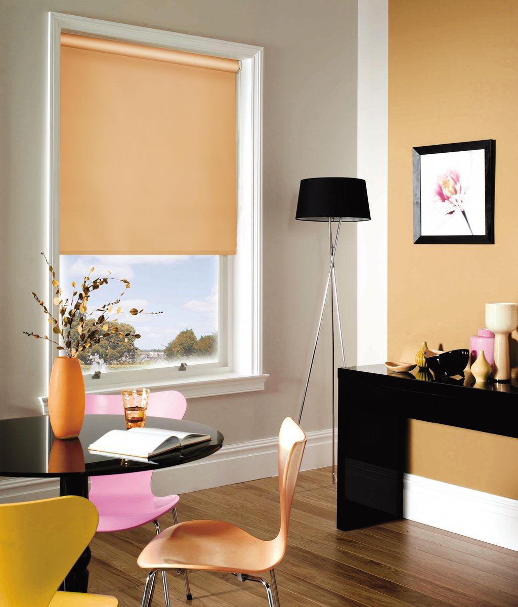 Штора рулонная Эскар, цвет: абрикосовый, ширина 150 см, высота 170 смK100Рулонными шторами можно оформлять окна как самостоятельно, так и использовать в комбинации с портьерами. Это поможет предотвратить выгорание дорогой ткани на солнце и соединит функционал рулонных с красотой навесных.Преимущества применения рулонных штор для пластиковых окон:- имеют прекрасный внешний вид: многообразие и фактурность материала изделия отлично смотрятся в любом интерьере; - многофункциональны: есть возможность подобрать шторы способные эффективно защитить комнату от солнца, при этом о на не будет слишком темной. - Есть возможность осуществить быстрый монтаж. ВНИМАНИЕ! Размеры ширины изделия указаны по ширине ткани!Во время эксплуатации не рекомендуется полностью разматывать рулон, чтобы не оторвать ткань от намоточного вала.В случае загрязнения поверхности ткани, чистку шторы проводят одним из способов, в зависимости от типа загрязнения: легкое поверхностное загрязнение можно удалить при помощи канцелярского ластика; чистка от пыли производится сухим методом при помощи пылесоса с мягкой щеткой-насадкой; для удаления пятна используйте мягкую губку с пенообразующим неагрессивным моющим средством или пятновыводитель на натуральной основе (нельзя применять растворители).