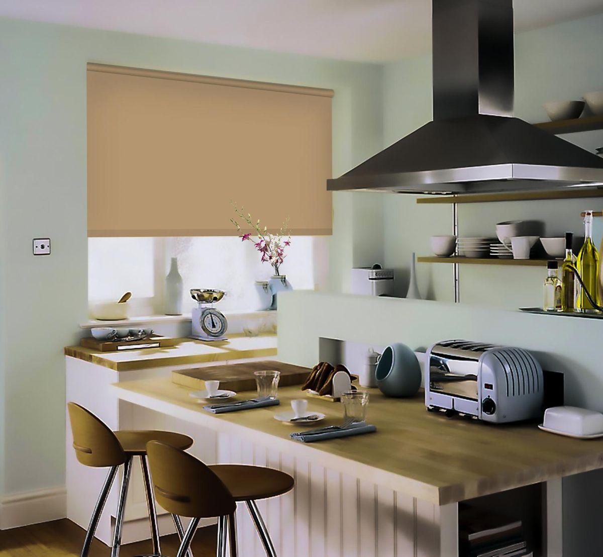 Штора рулонная Эскар, цвет: темно-бежевый, ширина 60 см, высота 170 см2615S545JBРулонными шторами можно оформлять окна как самостоятельно, так и использовать в комбинации с портьерами. Это поможет предотвратить выгорание дорогой ткани на солнце и соединит функционал рулонных с красотой навесных.Преимущества применения рулонных штор для пластиковых окон:- имеют прекрасный внешний вид: многообразие и фактурность материала изделия отлично смотрятся в любом интерьере; - многофункциональны: есть возможность подобрать шторы способные эффективно защитить комнату от солнца, при этом о на не будет слишком темной. - Есть возможность осуществить быстрый монтаж. ВНИМАНИЕ! Размеры ширины изделия указаны по ширине ткани!Во время эксплуатации не рекомендуется полностью разматывать рулон, чтобы не оторвать ткань от намоточного вала.В случае загрязнения поверхности ткани, чистку шторы проводят одним из способов, в зависимости от типа загрязнения: легкое поверхностное загрязнение можно удалить при помощи канцелярского ластика; чистка от пыли производится сухим методом при помощи пылесоса с мягкой щеткой-насадкой; для удаления пятна используйте мягкую губку с пенообразующим неагрессивным моющим средством или пятновыводитель на натуральной основе (нельзя применять растворители).