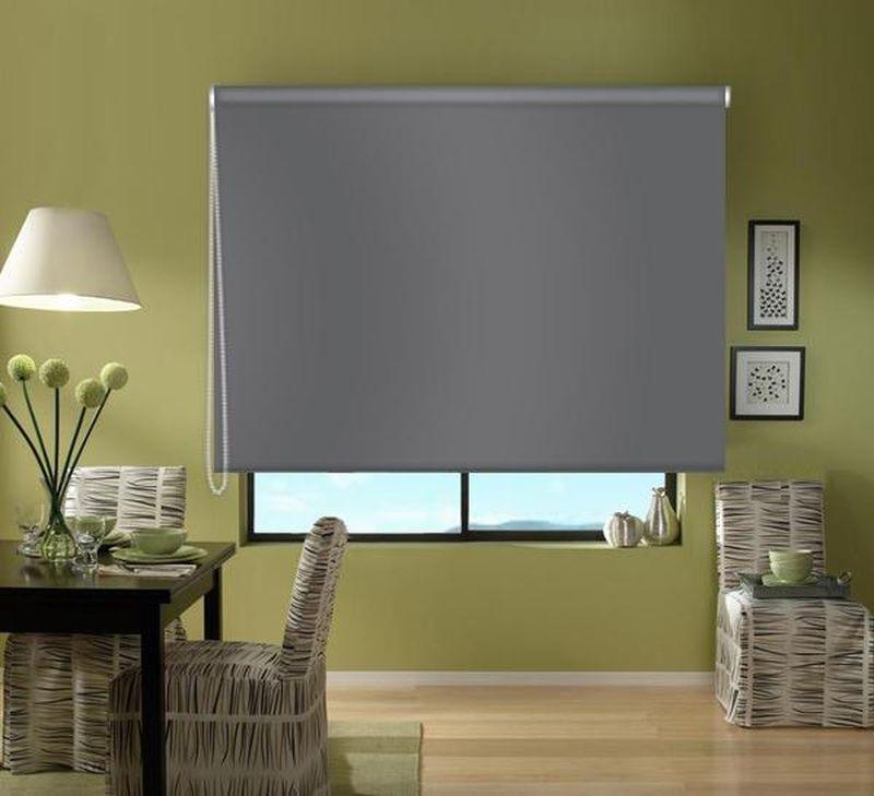 Штора рулонная Эскар Blackout, светонепроницаемая, цвет: серый, ширина 130 см, высота 170 см1004900000360Рулонными шторами можно оформлять окна как самостоятельно, так и использовать в комбинации с портьерами. Это поможет предотвратить выгорание дорогой ткани на солнце и соединит функционал рулонных с красотой навесных. Преимущества применения рулонных штор для пластиковых окон: - имеют прекрасный внешний вид: многообразие и фактурность материала изделия отлично смотрятся в любом интерьере;- многофункциональны: есть возможность подобрать шторы способные эффективно защитить комнату от солнца, при этом она не будет слишком темной. - Есть возможность осуществить быстрый монтаж.ВНИМАНИЕ! Размеры ширины изделия указаны по ширине ткани! Во время эксплуатации не рекомендуется полностью разматывать рулон, чтобы не оторвать ткань от намоточного вала. В случае загрязнения поверхности ткани, чистку шторы проводят одним из способов, в зависимости от типа загрязнения:легкое поверхностное загрязнение можно удалить при помощи канцелярского ластика;чистка от пыли производится сухим методом при помощи пылесоса с мягкой щеткой-насадкой;для удаления пятна используйте мягкую губку с пенообразующим неагрессивным моющим средством или пятновыводитель на натуральной основе (нельзя применять растворители).