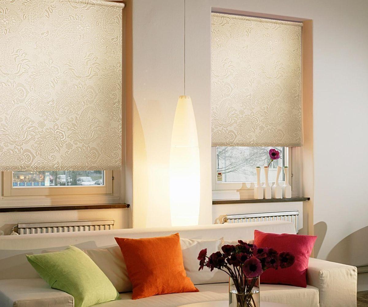 Штора рулонная Эскар Арабеска, цвет: молочный, ширина 160 см, высота 160 см80653Рулонными шторами Эскар Арабеска можно оформлять окна как самостоятельно, так и использовать в комбинации с портьерами. Это поможет предотвратить выгорание дорогой ткани на солнце и соединит функционал рулонных с красотой навесных. Преимущества применения рулонных штор для пластиковых окон: - имеют прекрасный внешний вид: многообразие и фактурность материала изделия отлично смотрятся в любом интерьере;- многофункциональны: есть возможность подобрать шторы способные эффективно защитить комнату от солнца, при этом она не будет слишком темной;- есть возможность осуществить быстрый монтаж.ВНИМАНИЕ! Размеры ширины изделия указаны по ширине ткани! Во время эксплуатации не рекомендуется полностью разматывать рулон, чтобы не оторвать ткань от намоточного вала. В случае загрязнения поверхности ткани, чистку шторы проводят одним из способов, в зависимости от типа загрязнения:легкое поверхностное загрязнение можно удалить при помощи канцелярского ластика;чистка от пыли производится сухим методом при помощи пылесоса с мягкой щеткой-насадкой;для удаления пятна используйте мягкую губку с пенообразующим неагрессивным моющим средством или пятновыводитель на натуральной основе (нельзя применять растворители).