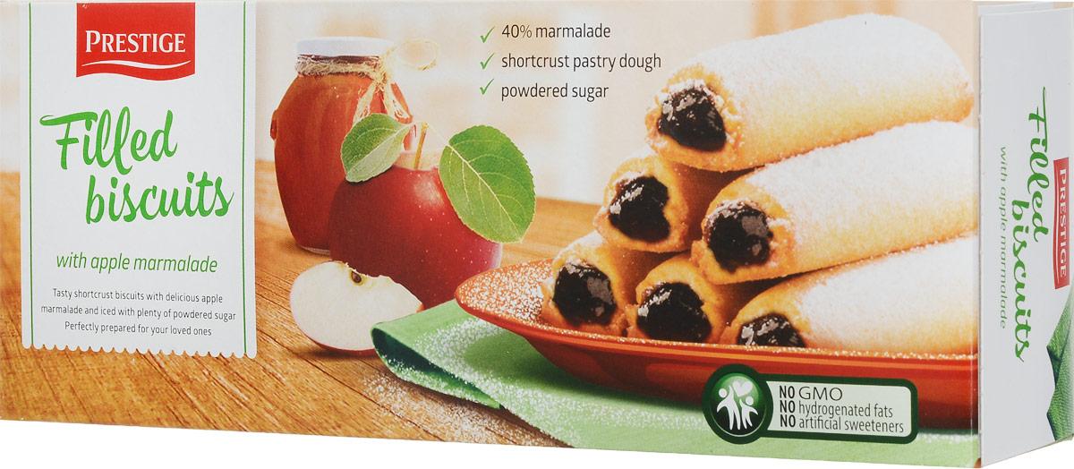 Prestige Бисквитное печенье с яблочной начинкой, 170 г4610003252656Бисквитное печенье Prestige с начинкой из яблок подарит массу удовольствия, зарядит энергией и бодростью с утра и на целый день.Уважаемые клиенты! Обращаем ваше внимание, что полный перечень состава продукта представлен на дополнительном изображении.