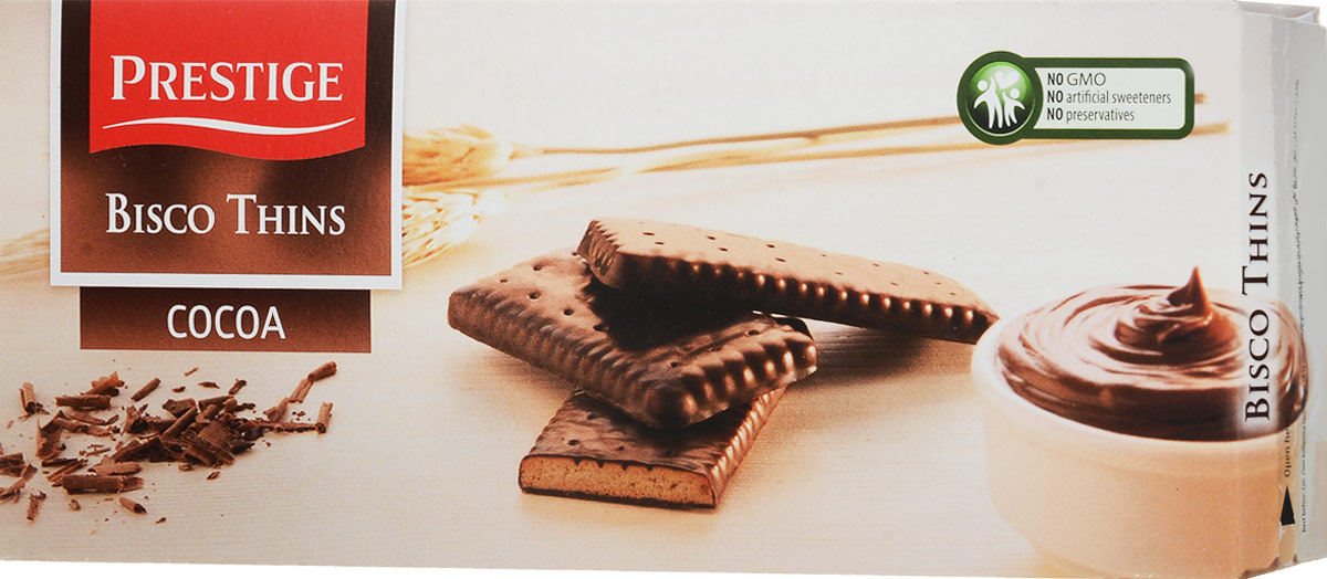 Prestige Бисквитное печенье в какао глазури, 160 г kinder delice пирожное бисквитное покрытое какао глазурью с молочной начинкой 39 г