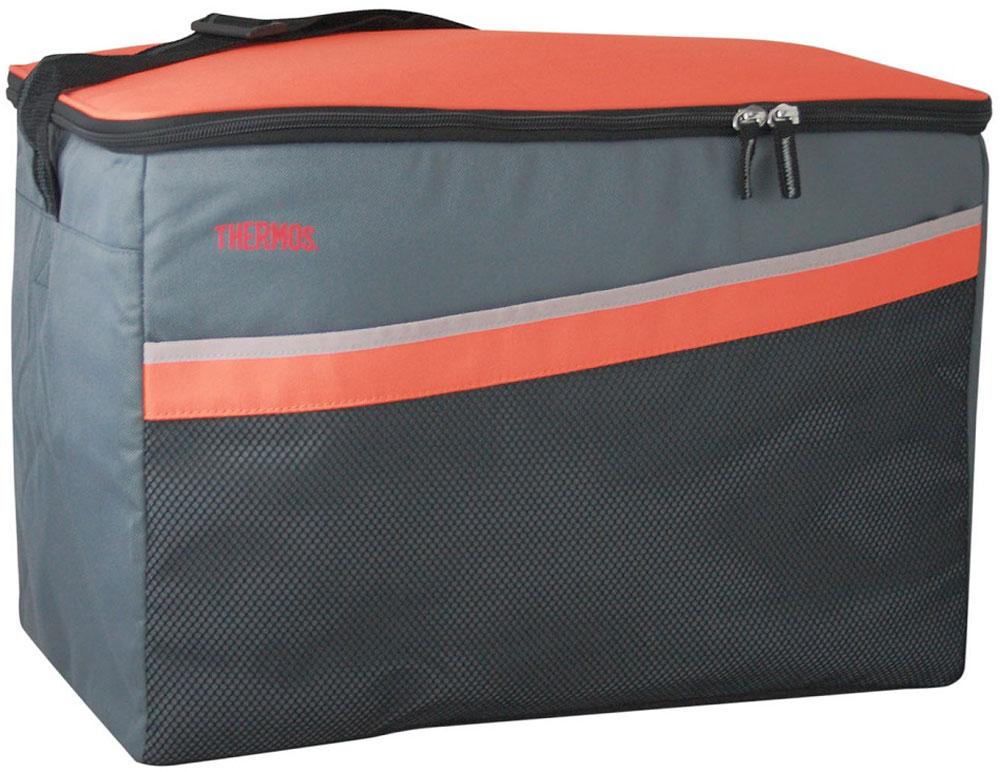 Термосумка Thermos Classic 48 Can Cooler, цвет: оранжевый, серый, 33 л1.645-370.0Термосумка складная Classic 48 Can Cooler отличная альтернатива твердому пластиковому термобоксу. Фронтальные стенки и крышка выполнены из твердого пластика. Боковые стенки и дно съемные, благодаря чему изделие полностью складывается. Объем: 33 л.