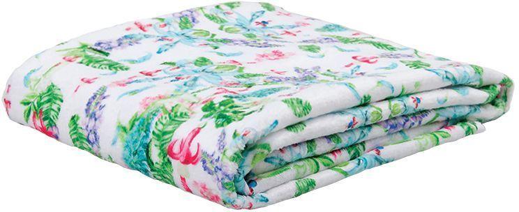 Полотенце банное Mona Liza Jade, цвет: белый, 50 х 90 см68/5/3Махровые полотенца с велюром созданы в дополнение к постельному белью из коллекции Mona Liza Secret Gardens by Serg Look. Принты полотенец идентичны принтам комплектов постельного белья.