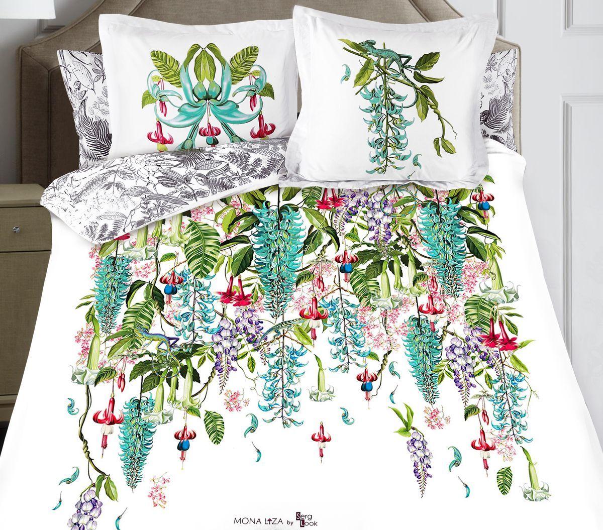 Комплект белья Mona Liza Jade, 2-спальный, наволочки 50x70, 70x70297/32Флоральные мотивы редких экзотических цветов, переведенные в паттерн, позаимствованы из путешествий по тропическим лесам, будоражат воображение природными сочетаниями цветовых палитр и роскошью принтов. Коллекция принесет в ваш дом незабываемое настроение и добавит колорит. Высококачественный сатин окутает и позволит раствориться в мечтах о дальних жарких странах и окунуться во время вечного лета!