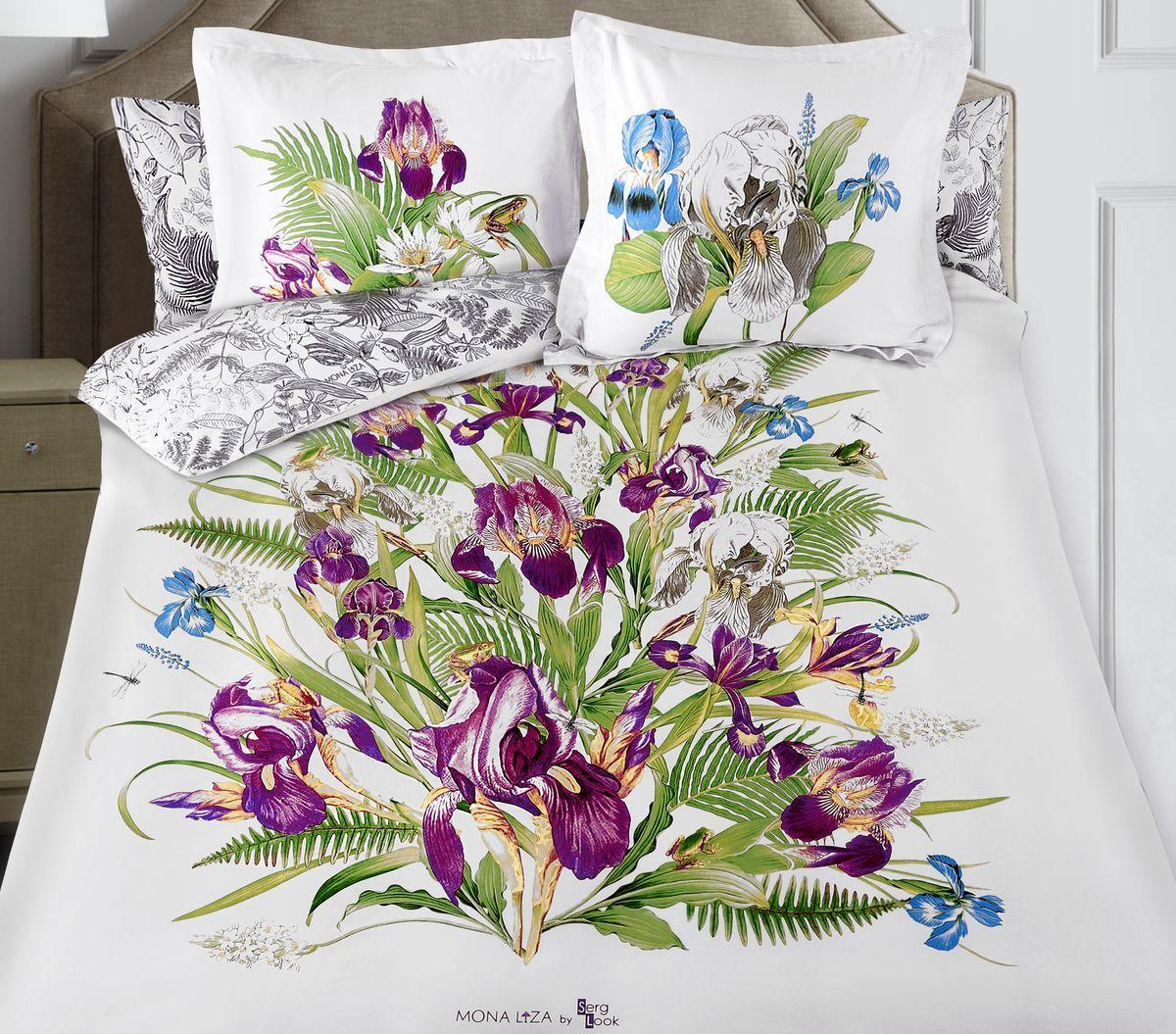 Комплект белья Mona Liza Iris, евро, наволочки 50x70, 70x70Д Дачно-Деревенский 20Флоральные мотивы редких экзотических цветов, переведенные в паттерн, позаимствованы из путешествий по тропическим лесам, будоражат воображение природными сочетаниями цветовых палитр и роскошью принтов. Коллекция принесет в ваш дом незабываемое настроение и добавит колорит. Высококачественный сатин окутает и позволит раствориться в мечтах о дальних жарких странах и окунуться во время вечного лета!