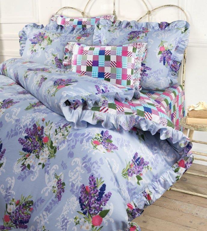 Комплект белья Mona Liza Lavender, семейный, наволочки 50x70, 70x7068/5/3Несомненно коллекция оригинальна и все в ней продумано до мелочей. Особого внимания заслуживают оборки и кружево на наволочках и оборки на пододеяльниках. Эта деталь делает коллекцию более романтичной и милой.