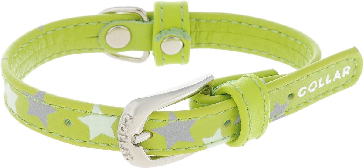 Ошейник для собак CoLLaR Glamour Звездочка, цвет: зеленый, ширина 1,2 см, обхват шеи 19-25 см cd диск beck jeff loud hailer 1cd