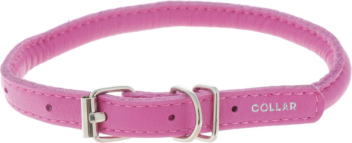 Ошейник для собак CoLLaR Glamour, цвет: розовый, диаметр 6 мм, обхват шеи 25-33 см