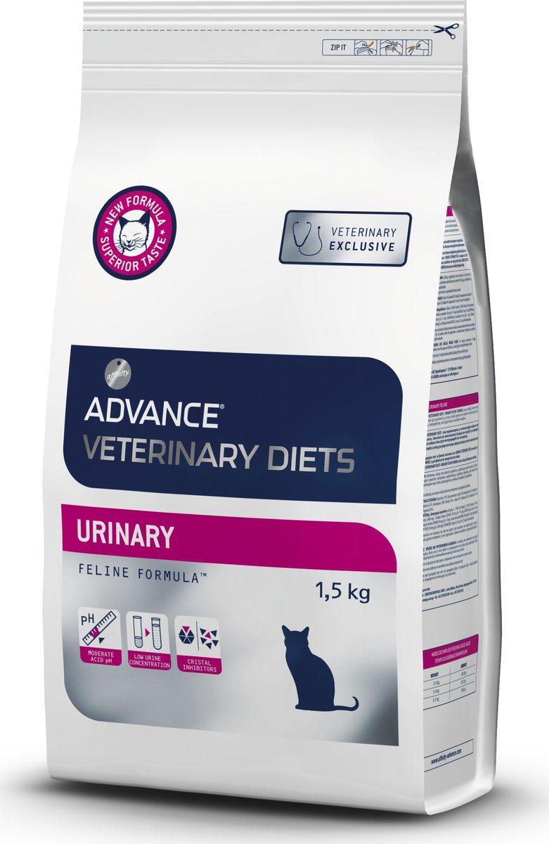 Корму сухой Advance для кошек при мочекаменной болезни Urinary, 1,5 кг. 5962110120710Advance – высококачественный корм супер-премиум класса Испанской компании Affinity Petcare, которая занимает лидирующие места на Европейском и мировом рынках. Корм разработан с учетом всех особенностей развития и жизнедеятельности собак и кошек. В линейке кормов Advance любой хозяин может подобрать необходимое питание в соответствии с возрастом и уникальными особенностями своего животного, а также в случае назначения специалистами ветеринарной диеты. Курица, маисовый глютен, дегидрированный белок свинины, рис, пшеница, дегидрированный белок курицы, мука из маиса, маис, гидролизированные белки животного происхождения, животные жиры, яичный порошок, соль, хлорид калия,рыбий жир,глюкозамин, хондроитин сульфат.Окислители мочевины: маисовый глютен, фосфорная кислота и DL-метионин.Affinity Petcare имеет собственную лабораторию, а также сотрудничает со множеством международных исследовательских центров, благодаря чему специалисты постоянно совершенствуют рецептуру и полезные свойства своих кормов.В составе главным источником белка является СВЕЖЕЕ мясо, благодаря которому корм обладает высокими вкусовыми качествами, а также высокой питательной ценностью.